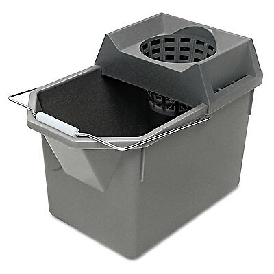 Rubbermaid Commercial Pail/Strainer Combination 15qt Steel Gray 6194STL