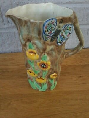 Radford England Butterfly Ware Jug. Lovely Colours And Condition. Height 21.5Cm.