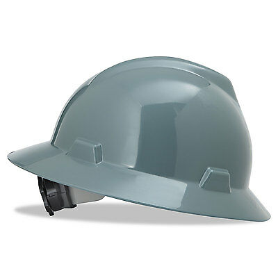 Msa V-Gard Hard Hats Fas-Trac Ratchet Suspension Size 6 1/2 - 8 Gray 475367