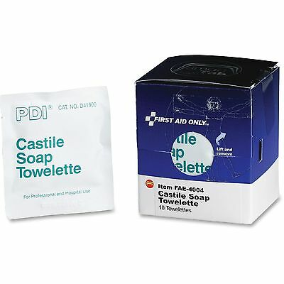 First Aid Only, Inc Castile Soap Towelettes White FAE4004