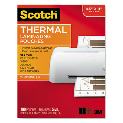 Scotch Letter Size Thermal Laminating Pouches 5 mil 11 1/2 x 9 100/Pack