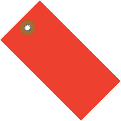 """Tyvek Shipping Tags 2 3/4"""" x 1 3/8"""" Red 100/Case G14011D"""