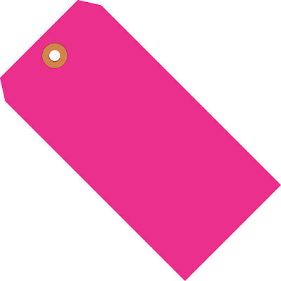 """Box Partners Shipping Tags 13 Pt. 3 3/4"""" x 1 7/8"""" Fluorescent Pink 1000/Case"""