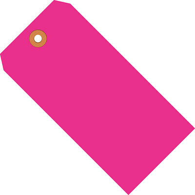 """Box Partners Shipping Tags 13 Pt. 2 3/4"""" x 1 3/8"""" Fluorescent Pink 1000/Case"""