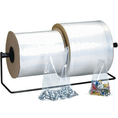 """Box Partners Poly Bags on a Roll 1 Mil 9"""" x 12"""" Clear 1 000/Roll AB326"""