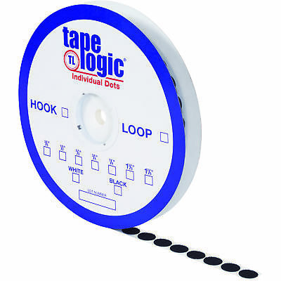 "Tape Logic Individual Tape Dots Loop 7/8"" Black 900/Case HLT157"