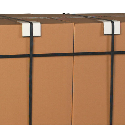 """Box Partners Strapping Protectors .120 3"""" x 3"""" x 3"""" White 900/Case SP3325120"""