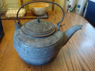 Antique Cast Iron Water Kettle No. 7 Southard & Co. Water Street Ny