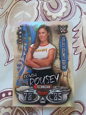 Topps Wwe Slam Attax Live Silver Limited Edition Ronda Rousey