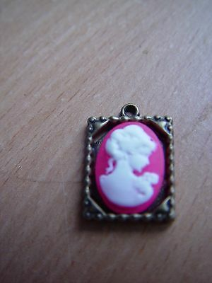 Doll House Scale Lovely Framed Lady Cameo !! Bid Now &  Don't Miss Out !!