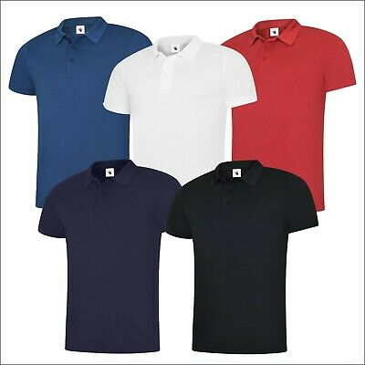 UNEEK UC127 Men's Polo Shirt Super Cool Polyester Workwear Knitted Collar Top