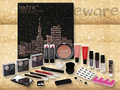 BEAUTY Advent Calendar Make Up Gift Cosmetic Set Lips Eyes Face Eyeshadow Xmas