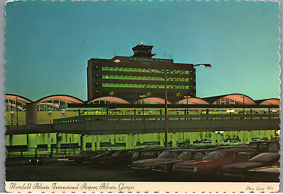 Hartsfield Atlanta International Airport Georgia Vintage Postcard #1