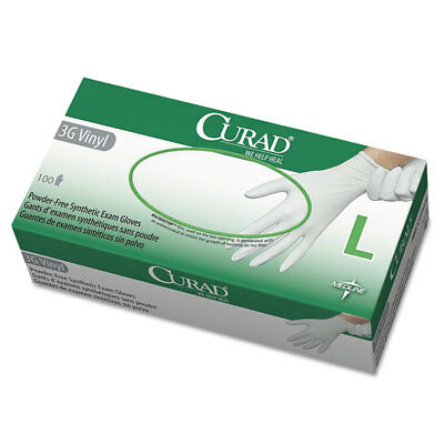 Curad 3G Synthetic Vinyl Exam Gloves Powder-Free Large 100/Box 6CUR8236