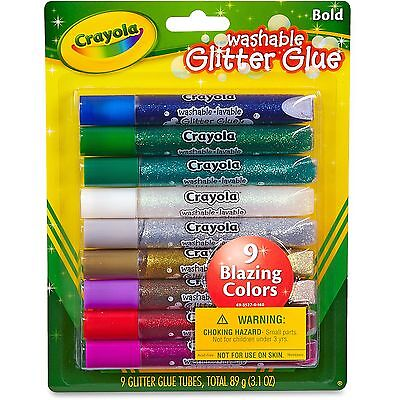 Crayola Washable Glitter Glue 9 Carton Assorted 693527