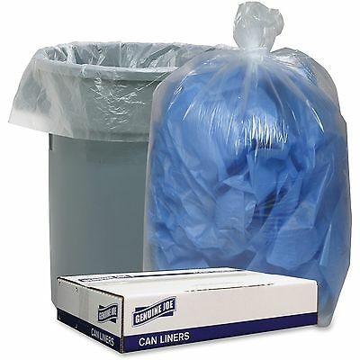 """Genuine Joe Can LIners 1.1mil/LD 38""""x58"""" 100/CT Clear 29127"""