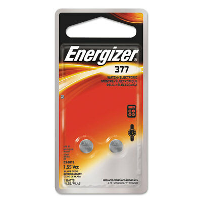 Energizer Watch/Electronic/Specialty Battery 377 1.5V 2/Pack 377BPZ2