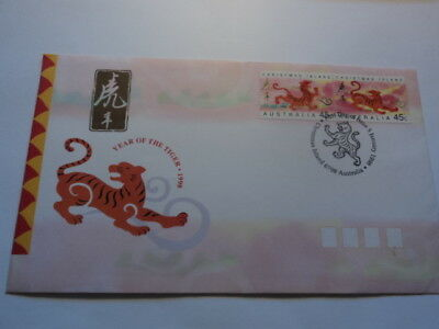 Christmas Island fdc first day cover 1998 Year of the Tiger