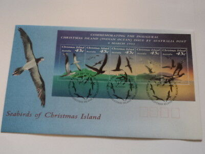 Christmas island FDC first day cover 1993 Seabirds of Christmas Island minisheet