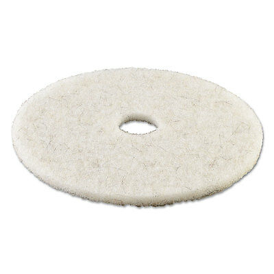 "Boardwalk Ultra High-Speed Natural Hair Floor Pads 21"" Diameter White 5/Carton"