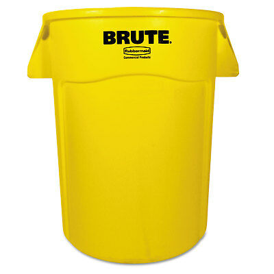Rubbermaid Commercial Brute Vented Trash Receptacle Round 44 gal Yellow