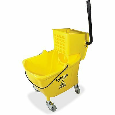 "Genuine Joe Bucket/Wringer Combo Sidepress 16""x14""x21"" Yellow 02347"