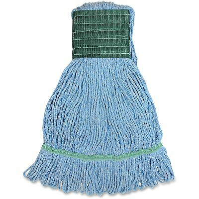Genuine Joe Synthetic Blend Wide Band Loop Mop 16oz. 12/CT Blue MBL5BCT