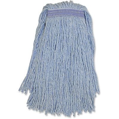 Genuine Joe Blended Colored Yarn Mop No.24 12EA/CT Blue N24B1BCT