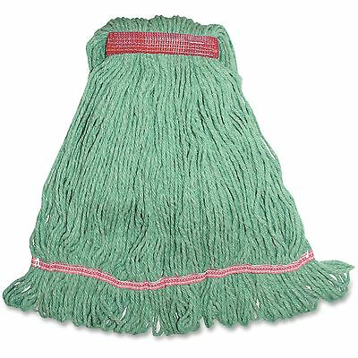 Genuine Joe Narrow Band Blend Loop Wet Mop 12oz. 12/CT Green LGR1BCT