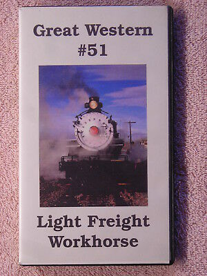 Great Western #51 & #75, Light Freight Workhorse, Steam Locos, VHS, Trains, NICE