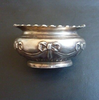 Boardman Glossop & Co Edwardian Solid Silver Decorative Trinket Bowl 1905 40.1g