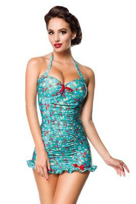 ff4f37768a 1950s retro swimsuit rockabilly swimwear pin up vintage swimming costume  green D