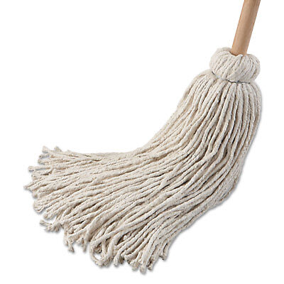 "Boardwalk Deck Mop; 54"" Wooden Handle 32 oz Cotton Fiber Head 6/Pack 132C"