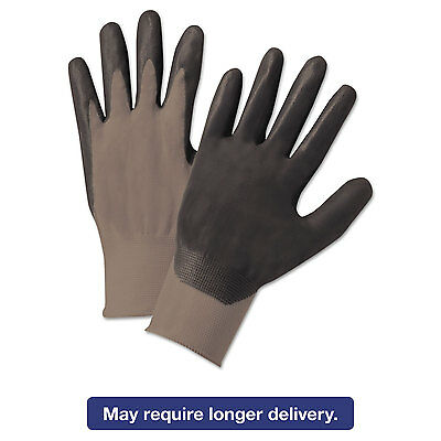 Anchor Brand Nitrile-Coated Gloves Gray/Black Nylon Knit Medium 12 Pairs 6020M