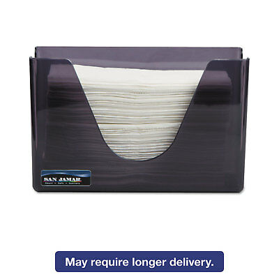 San Jamar Countertop Folded Towel Dispenser Plastic Black Pearl 11 x 4 3/8 x 7