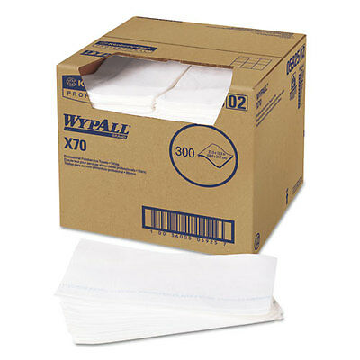 WypAll X70 Wipers Kimfresh Antimicrobial 12 1/2 x 23 1/2 White 300/Box 05925