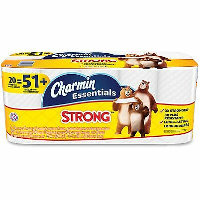 Charmin Essentials Strong Bathroom Tissue 1-Ply 4 x 3.92 300/Roll 20 Roll/Pack