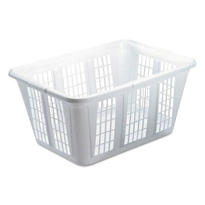 Rubbermaid Laundry Basket 10 7/8w x 22 1/2d x 16 1/2h Plastic White 8/Carton