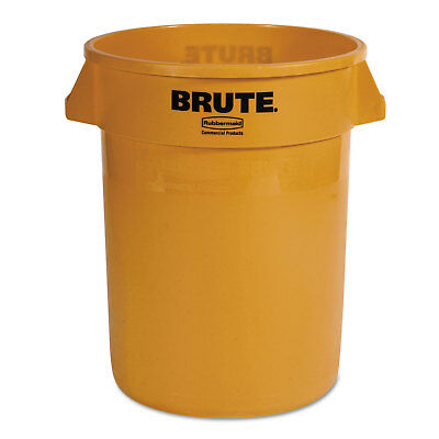 Rubbermaid Commercial Round Brute Container Plastic 32 gal Yellow 2632YEL