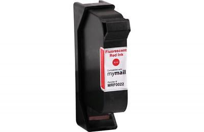 Clover Remanufactured Postage Meter Fluorescent Red Ink Cartridge MRF0022