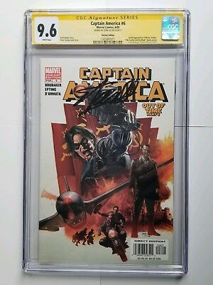 CGC 9.6 CAPTAIN AMERICA #6 Out of Time Part 6-WINTER SOLDIER: Signed by STAN LEE