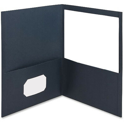 "MyOfficeInnovations 2-Pocket Folders 125 Sht Cap Letter 12""x9"" 25/BX L.BLUE"