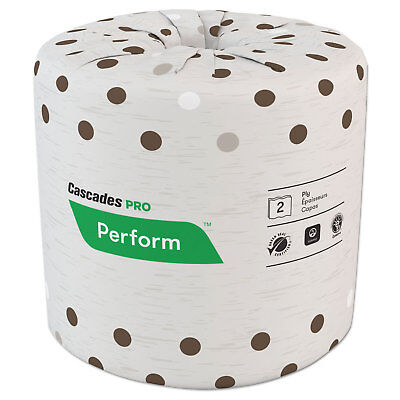 Cascades PRO Select Standard Bath Tissue 2-Ply White 4 1/4 x 4 400/Roll 80