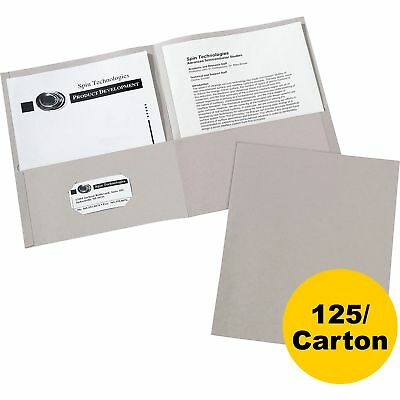 Avery 2-Pocket Folder Letter-size 20Sh/Pocket 125/CT Gray 47990CT