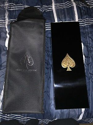 Armand De Brignac Ace of Spades Champagne Empty Box Case Black Gold No Bottle