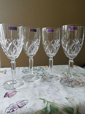 Waterford Marquis Lead Crystal Set Of 4 Wine Glasses Brand New