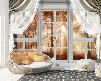 Wall Mural Photo Wallpaper Image EASY-INSTALL Fleece Forest Window View Nature