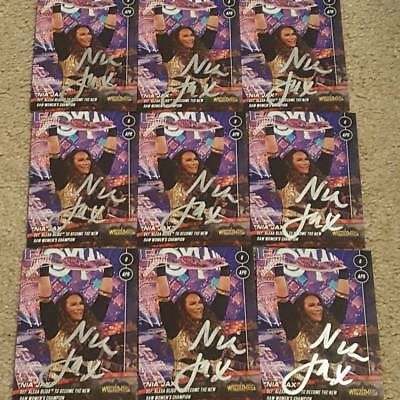 Nia Jax Autograph Signed Topps Now Trading Card Wrestlemania 34 Champion Wwe