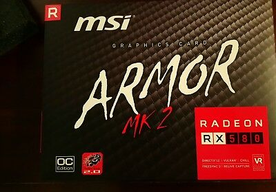 Select ONE ONLY *Brand New* Radeon RX 580 8GB-GDDR5 ** MSI ( Red or White )