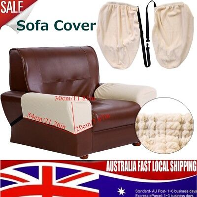 2X Stretch Fit Armchair Cover Protector for Sofa Lounge Arm Removable Non Slip
